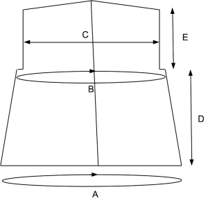 A schematic drawing for an open cardigan